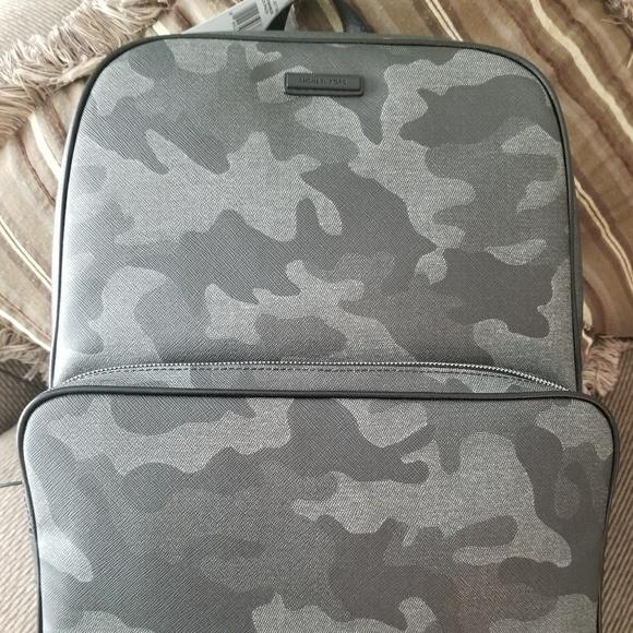 Michael Kors gray black camo backpack